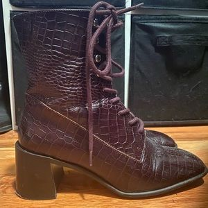 Miista Emma Boots in Brown Croc in Size 39